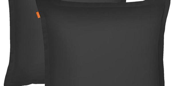 Sada 2 povlaků na polštář Basic Black, 60x60 cm