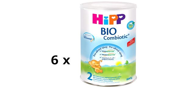 HiPP MLÉKO 2 BIO Combiotic 6 x 800g