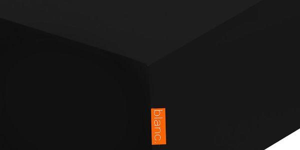 Elastické prostěradlo Basic Black, 90x200 cm