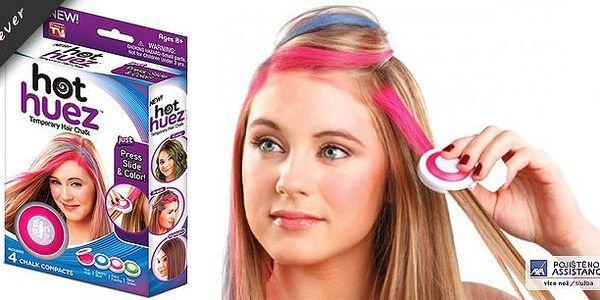 Světově oblíbené Hot Huez: omyvatelné vlasové barvy s rychlým aplikátorem. Uniformita není trandy, oživte svůj účes, copánek nebo drdol a buďte každý týden jiná! Vhodné na všechny typy a barvy vlasů a pro ženy, slečny i dámy, buďte hravé a originální!