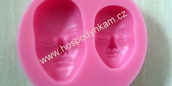 Silikonová forma na marcipán tváře (2 velikosti obličejů)
