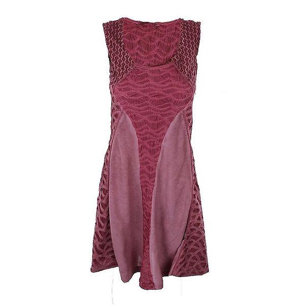 Dámské růžovočervené šaty bez rukávů Angels Never Die