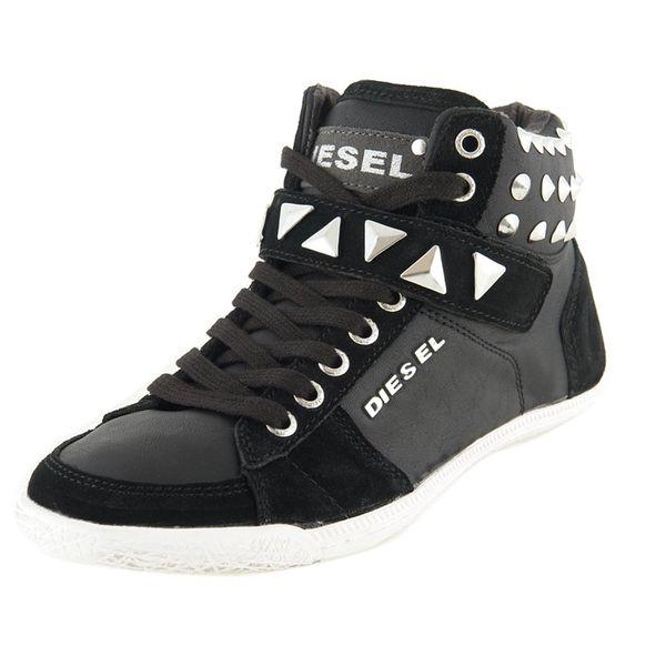Dámské boty Diesel černé kotníkové se suchým zipem