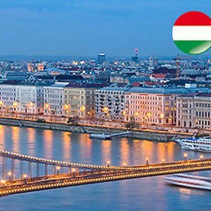 Budapešť - tři dny pro DVĚ osoby se snídaní ve 4* hotelu