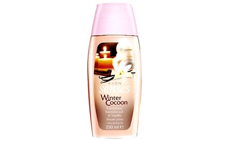 Avon Sprchový krém Winter Cocoon Senses (Luxurious Sandalwood & Vanilla Shower Créme) 250 ml