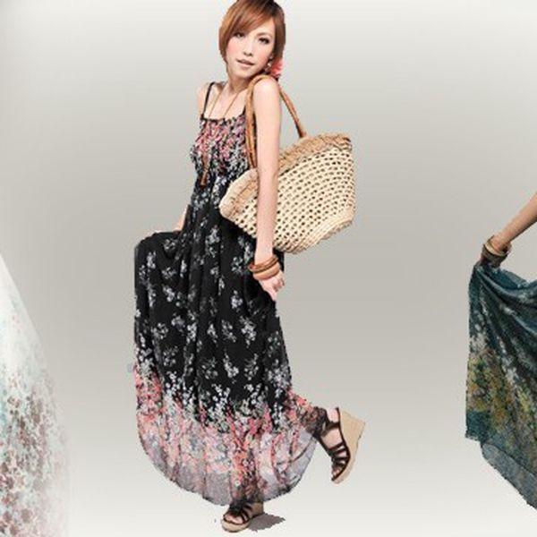 Dámské letní maxi šaty s 50% slevou