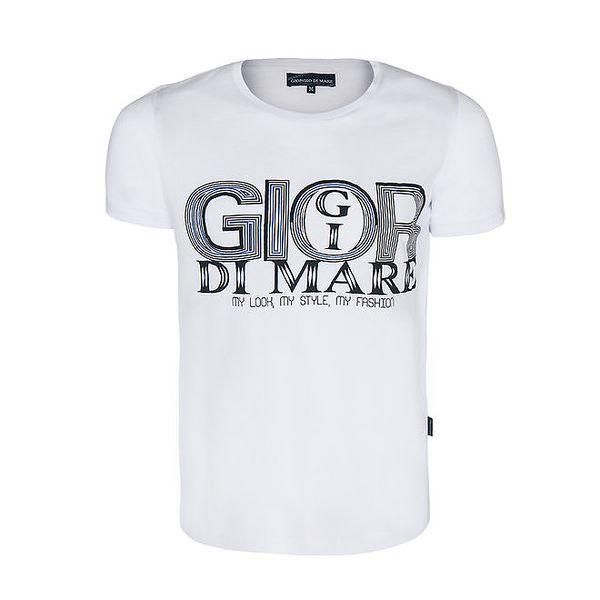 Pánské bílé tričko s nápisem Giorgio di Mare