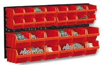 Tabule na nářadí, víceúčelová tabule s boxy na nářadí a šroubky ORDERLINE NP3