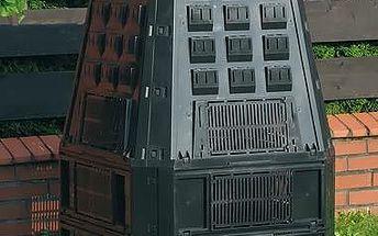 Zahradní kompostér CEV 600 L.,kompostér EvoGreen, plastový kompostér černý