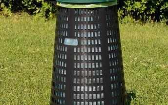 Stojan na odpadkové pytle, zahradní plastový koš o objemu 150L.