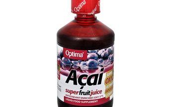 Allnature Acai Super Fruit Juice OXY3 500 ml - bojuje proti předčasnému stárnutí buněk