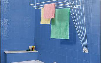 Stropní sušák na prádlo IDEAL do stěny 6tyčí 120cm