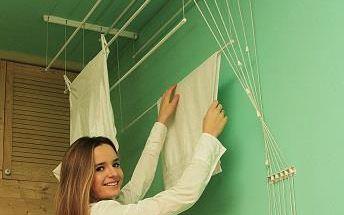 Stropní sušák IDEAL 6 tyčí 150 cm, vytahovací sušák na prádlo - AKČNÍ NABÍDKA