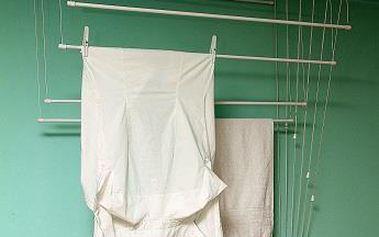 BENCO Stropní sušák na prádlo IDEAL 7 tyčí 140 cm, vytahovací sušák na prádlo - AKČNÍ NABÍDKA