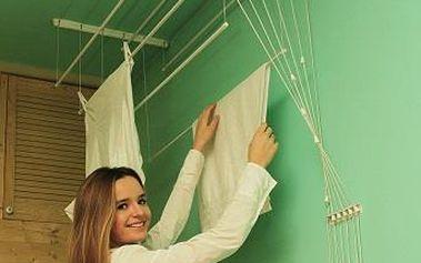 Stropní sušák IDEAL 6 tyčí 190 cm, vytahovací sušák na prádlo - AKČNÍ NABÍDKA