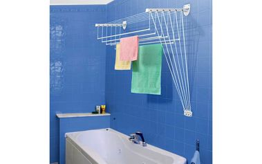 Stropní sušák na prádlo IDEAL do stěny 6tyčí 130cm