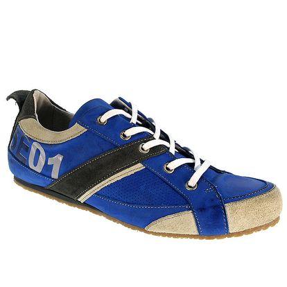Pánské modré kožené tenisky Red Hot