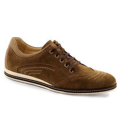 Pánské hnědé šněrovací boty Red Hot