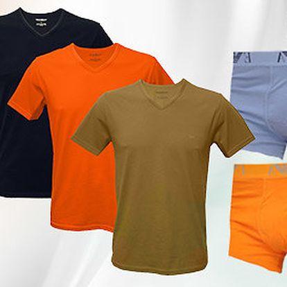 Pánské boxerky a trička Emporio Armani