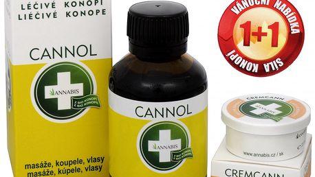 Annabis Cannol - konopný olej 100 ml + Cremcann - konopný regenerační a zvláčňující pleťový krém 15 ml ZDARMA