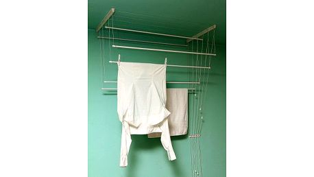 BENCO Stropní sušák na prádlo IDEAL 7 tyčí 130 cm, vytahovací sušák na prádlo - AKČNÍ NABÍDKA