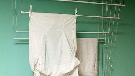 BENCO Vytahovací sušák na prádlo,stropní sušák na prádlo IDEAL 5 tyčí 120 cm