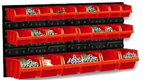 Tabule na nářadí, víceúčelová tabule s boxy na nářadí a šroubky ORDERLINE NP2