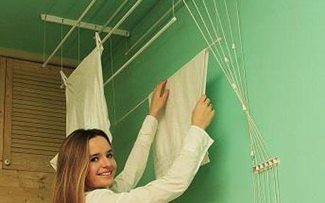 BENCO Stropní sušák IDEAL 6 tyčí 160 cm, vytahovací sušák na prádlo - AKČNÍ NABÍDKA