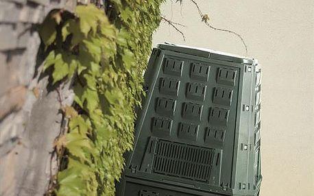 Zahradní kompostér EvoGreen 800 L, kompostér CEV 800, plastový kompostér - zelený