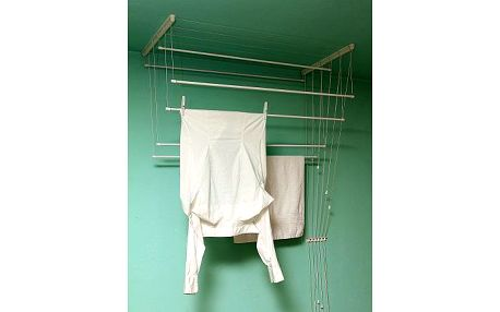 BENCO Stropní sušák na prádlo IDEAL 7 tyčí 160 cm, vytahovací sušák na prádlo - AKČNÍ NABÍDKA