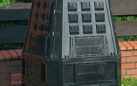 Kompostér CEV 800l. EvoGREEN černý - AKCE, zahradní kompostér