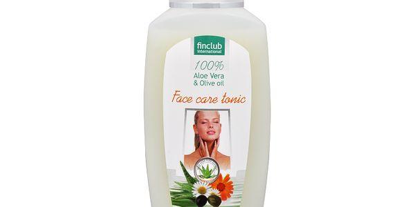 Finclub Hydratační pleťové tonikum Aloe vera & olivový olej (Face Care Tonic) 200 ml