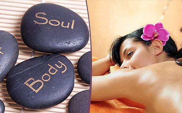 50minutová masáž lávovými kameny