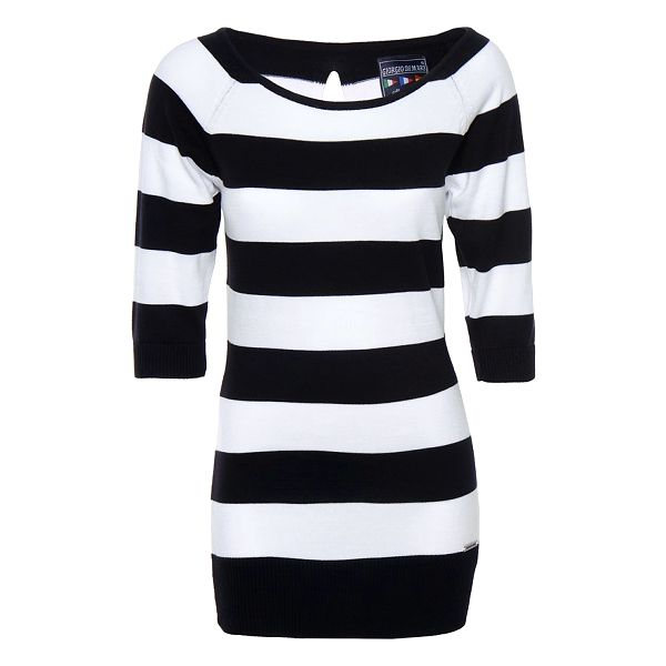 Dámské černo-bílé pruhované šaty Giorgio di Mare