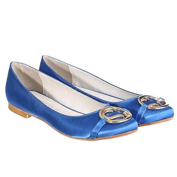 Dámské modré balerínky Miss Roberta