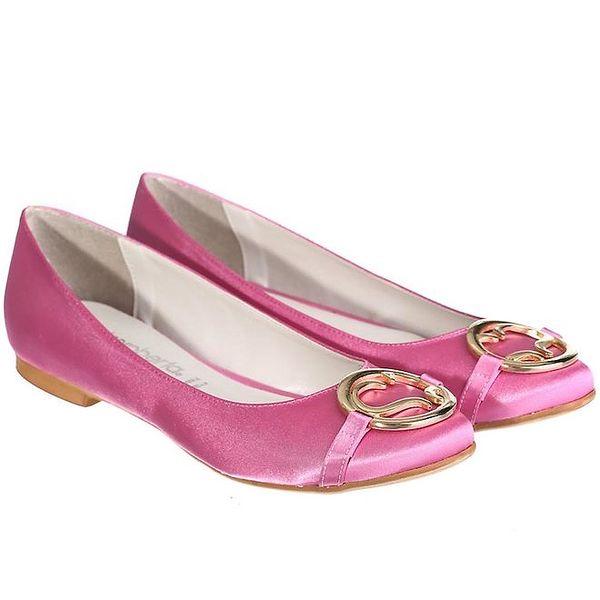 Dámské růžové balerínky Miss Roberta