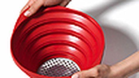 Skládací cedník - normann copenhagen strainer, červený
