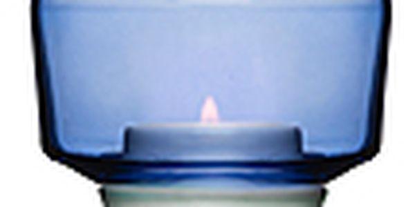 Svícen SAGAFORM Shine na čajovou svíčku, modrý