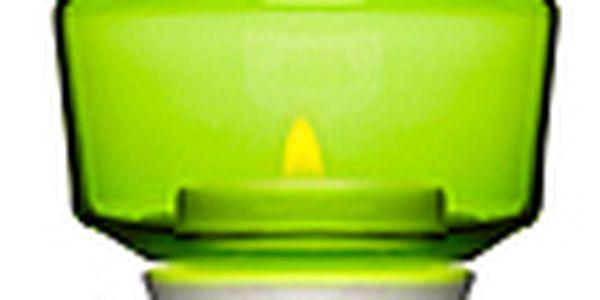 Svícen SAGAFORM Shine na čajovou svíčku, zelený
