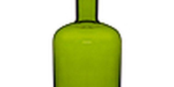 Váza s nástavcem na svíčku - SAGAFORM Pava, velká, zelená