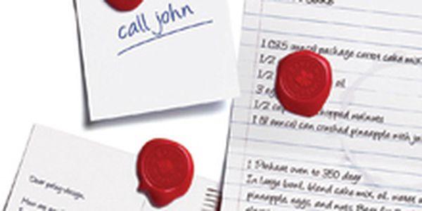Sada magnetů PELEG DESIGN Royal Magnets ve tvaru královských pečetí, 3ks