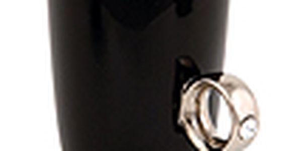 Porcelánový hrnek s prstenem FRED Ring Cup, černý/stříbrný