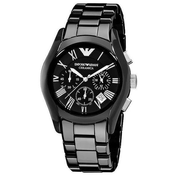 Pánské keramické hodinky v černé barvě Emporio Armani