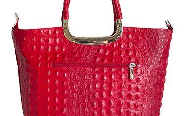 Dámská rudá kabelka s reliéfním povrchem Roberto Buono