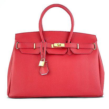 Dámská rudá kabelka se zámečkem Roberto Buono
