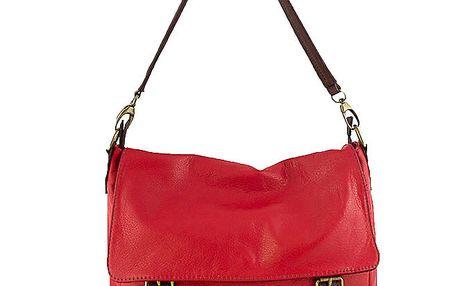 Dámská rudá kabelka ve stylu aktovky Roberto Buono