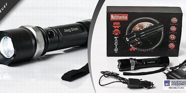 Swat baterka - tuto svítilnu oceníte nejen při výpadku proudu nebo stanování v přírodě! Je vybavena 3 módy svícení, vydrží nepřetržitě svítit až 160 minut a je voděodolná a nárazuvzdorná. V balení naleznete také adaptér do auta.