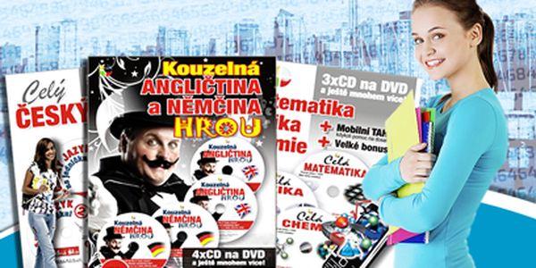 3 výuková DVD jen za 99 Kč! Angličtina, němčina, čeština, fyzika, chemie a matematika!
