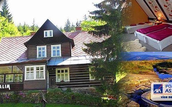 Užijte si skvělou dovolenou v krásné oblasti Krkonošského národního parku s neuvěřitelnou slevou! 3 dny pro dva v penzionu ALIM! Polopenze, láhev vína na pokoji a odpolední posezení při Vídeňské kávě nebo čaji s domácím moučníkem v ceně!