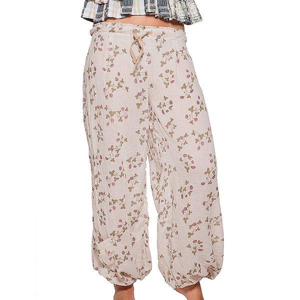 Dámské krémové volné kalhoty Ian Mosh